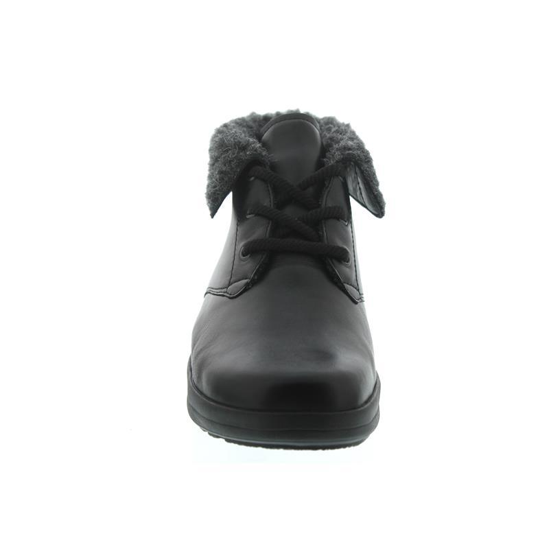 Berkemann Onika Bootie, schwarz, Glattleder, Schurwollfutter, Wechselfußbett, Weite H 05353-901