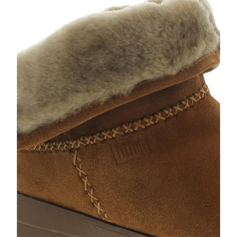 FitFlop Mukluk Shorty 2 Boots, Chestnut, Velourleder, Warmfutter B96-047