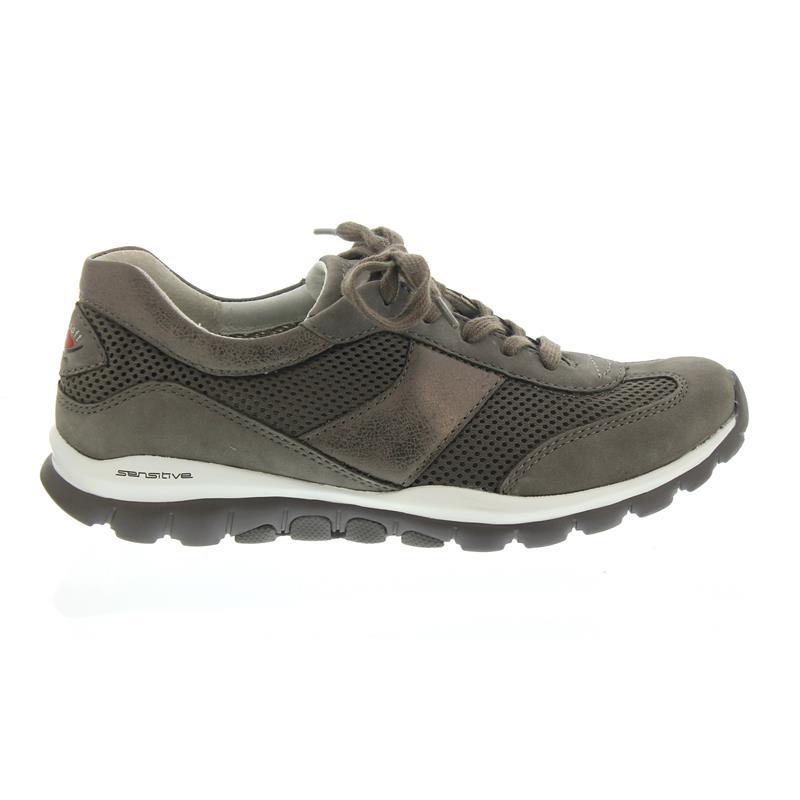 6eebd75f950265 Gabor Rollingsoft Sneaker 26.966.28 in fumo argento Nubuk Mesh ...
