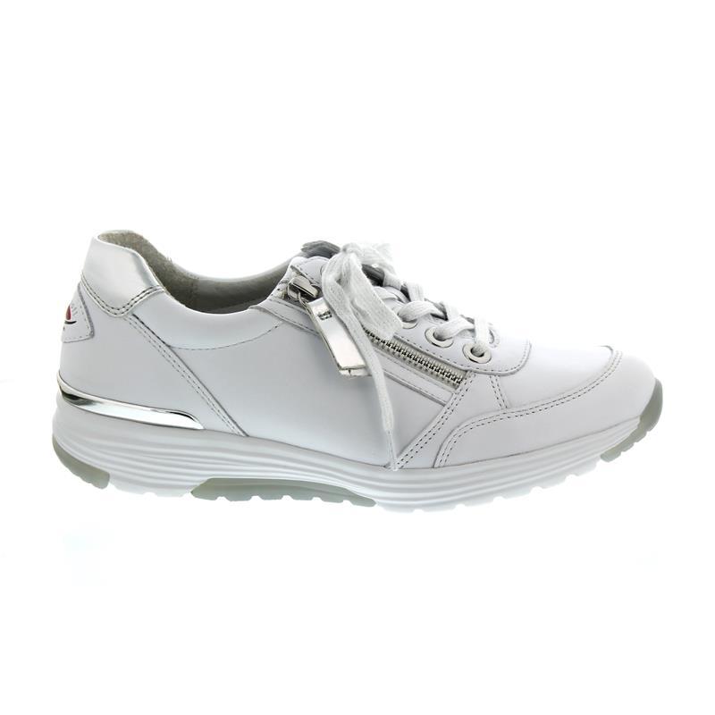 68bdaa35469fb0 Gabor Rollingsoft Sneaker 26.973.50 in weiß argento Glattleder ...