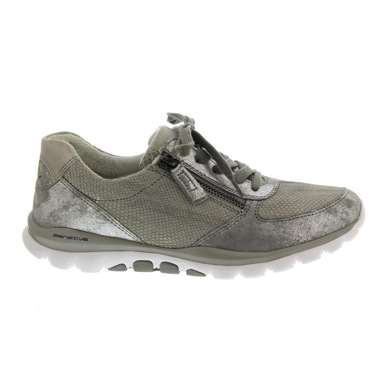 0bb405d5c50dbe Gabor Rollingsoft Sneaker 26.968.21 in grau argento Nubukleder ...