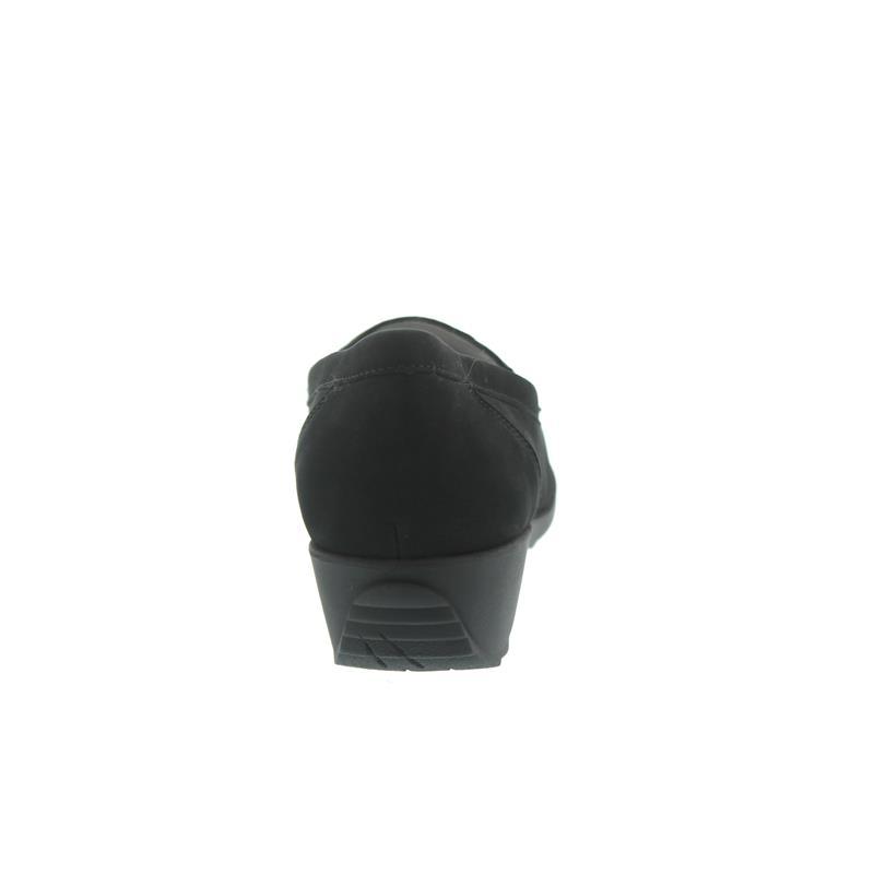 Waldläufer Hanin, Mokassin, Nubukleder, schwarz, Weite H 348501-162-001