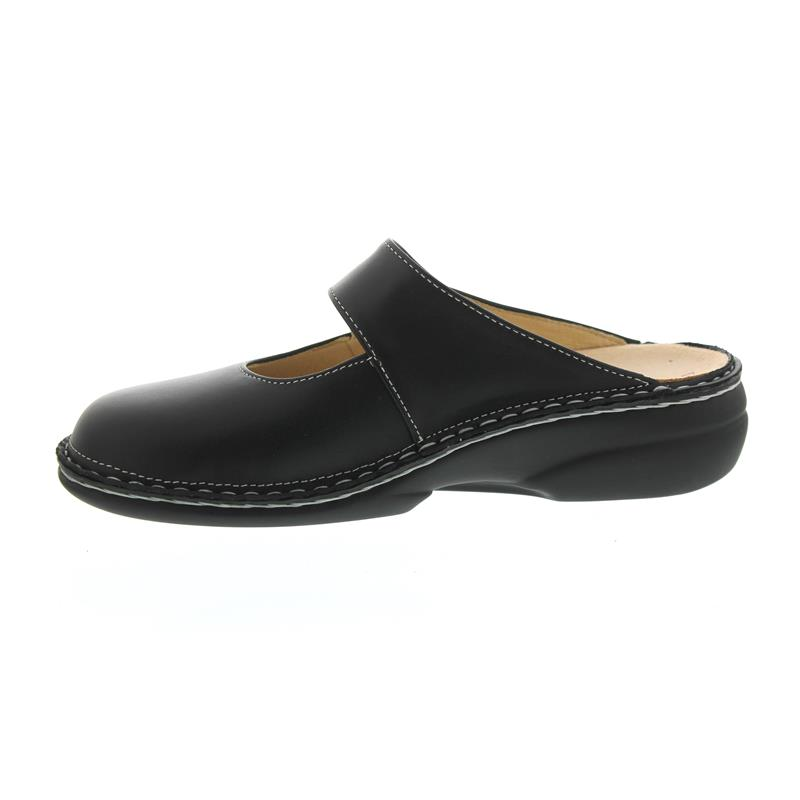 Finn Comfort Stanford - Clog, Klettverschluss, Nappaseda (Glattlleder), schwarz 2552-014099