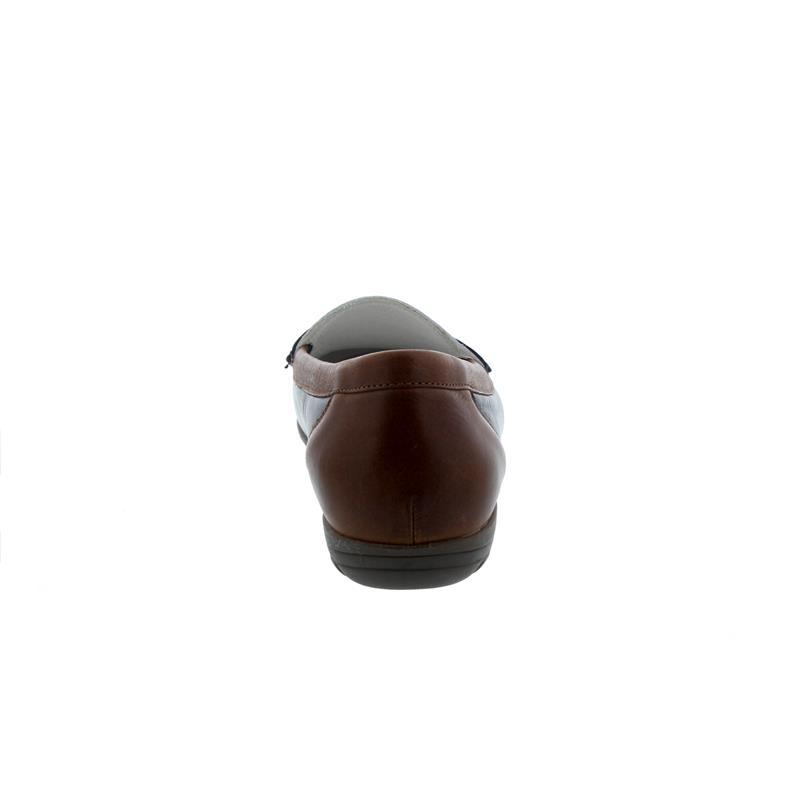 Waldläufer Hesima, Mokassin, Memphis (Glattleder), ocean/weiss/cognac, Weite H 329503-323-684