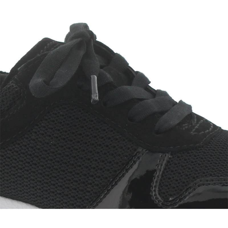 Rollingsoft Sneaker, Mesh KN/Met.HT/Nubuk, schwarz, Wechselfußbett 26.946.37