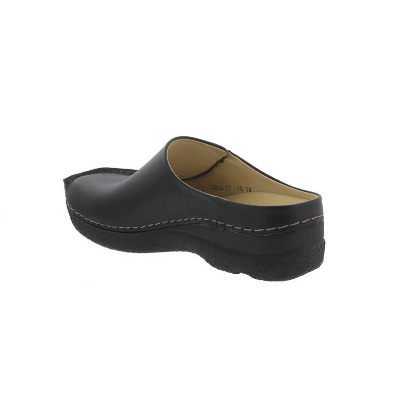Wolky Seamy-Slide, Clog, Printed leather (Glattleder), black 0625070-000