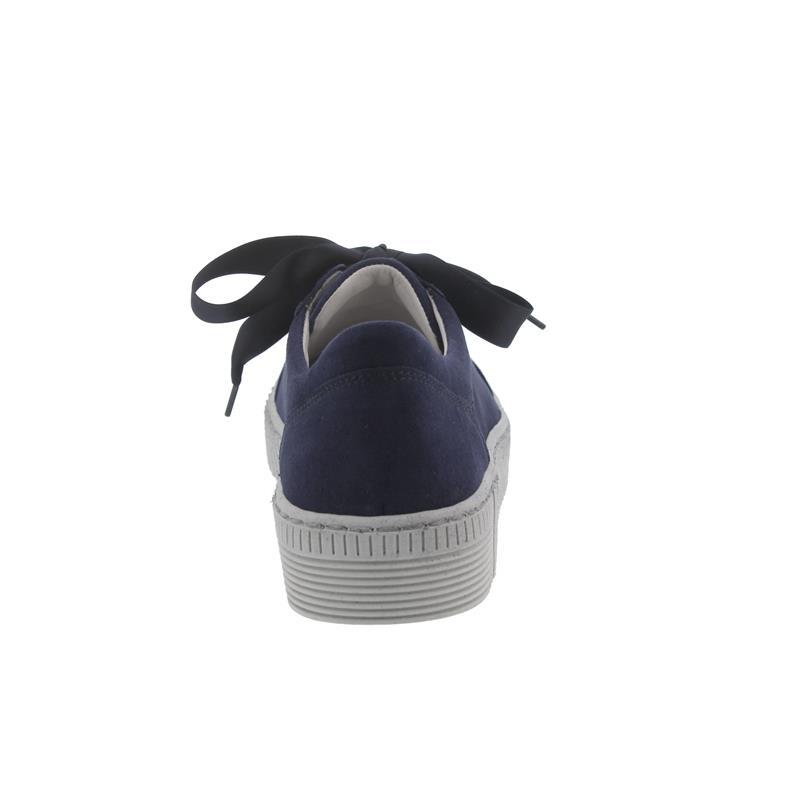 Gabor Sneaker, Samtchevreau, bluette (dunkelblau), Wechselfußbett, Best Fitting 23.330.18
