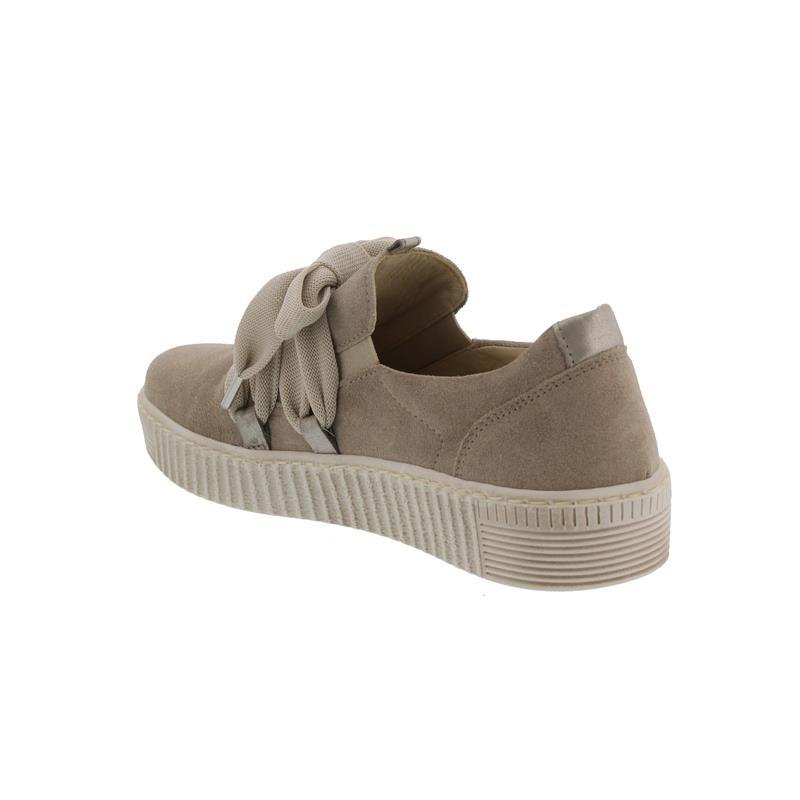 Gabor Sneaker, DreamvelourEclisse, silk muschel (beige), Wechselfußbett, Best Fitting 23.333.12