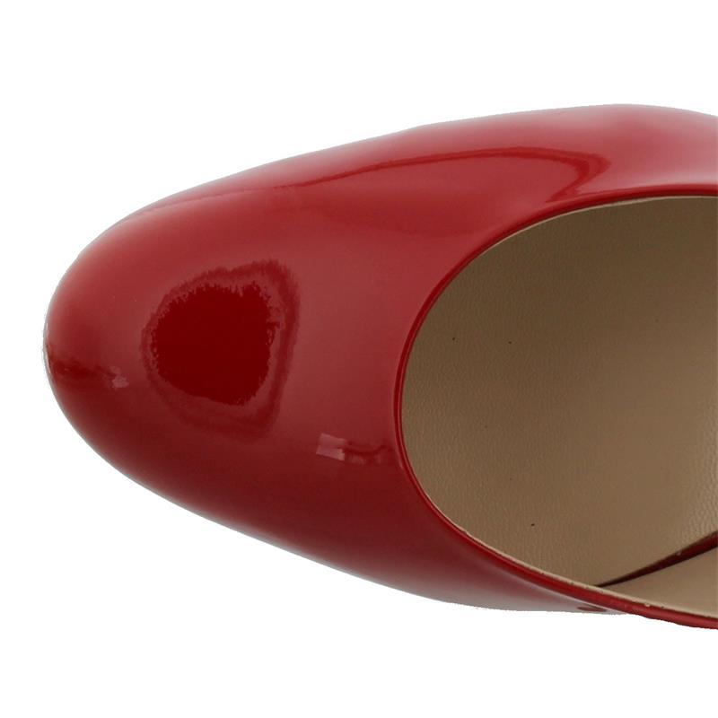 Högl Plateaupumps, Softlack-Leder, red 108004-4300