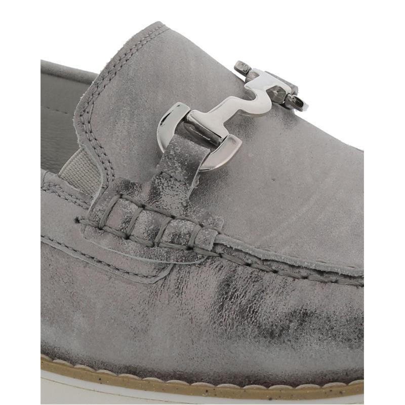 Waldläufer Habea, Mokassin, Foil (Metallicleder), asphalt (silber), Weite H 926514-127-007