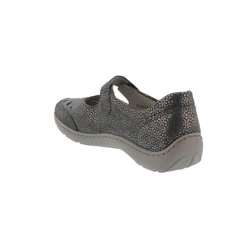 Waldläufer Henni, Tago (bed. Nubukled.), cement, Klett, Pro-Aktiv Fussbett, Weite H 496309-117-013