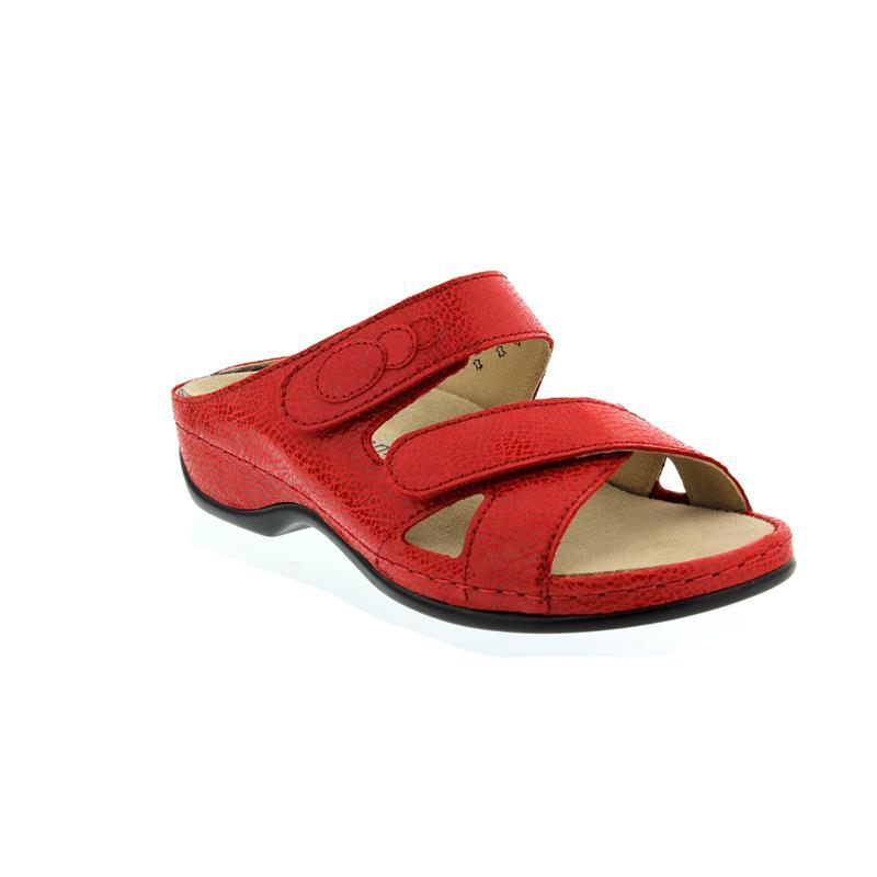 Berkemann Felia, rubin (rot), Glanzleder, Pantolette Weite E-H 1023-221