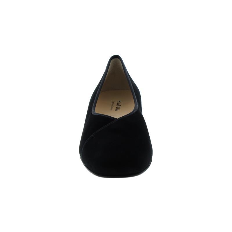Hassia Cordoba Pumps, Samtziege-Leder, schwarz, Vario-Fussbett, Extraweite K 302433-0100