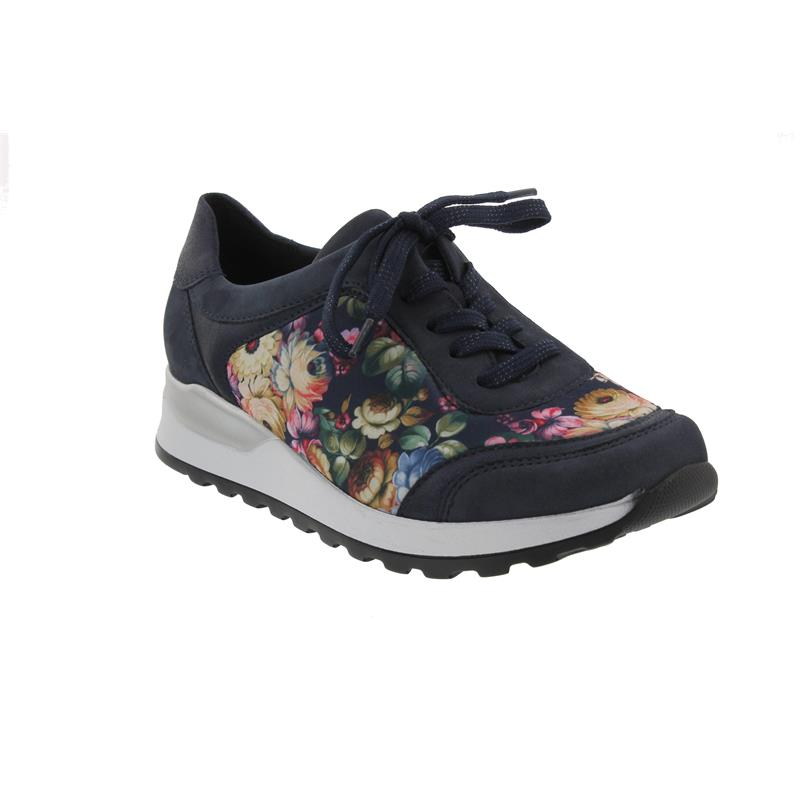 Waldläufer Hiroko-Soft, Sneaker, Nubuk / Stretch, marine/notte/multi,Weite H H64006-304-845