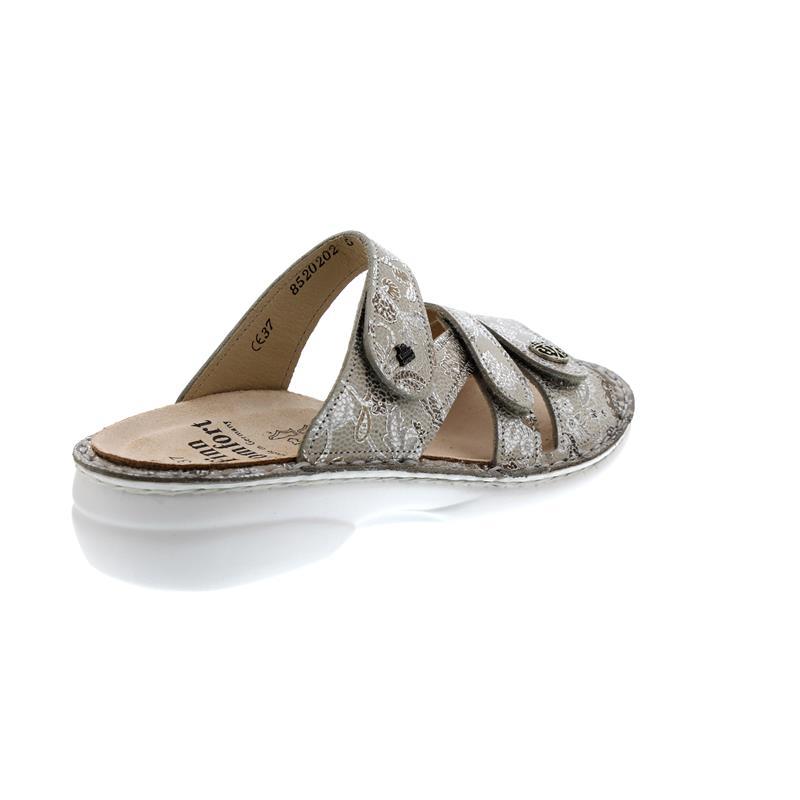 c0e6be3596ffc3 Finn Comfort Ventura-S Pantolette in sand (beige) Fleur-Leder ...