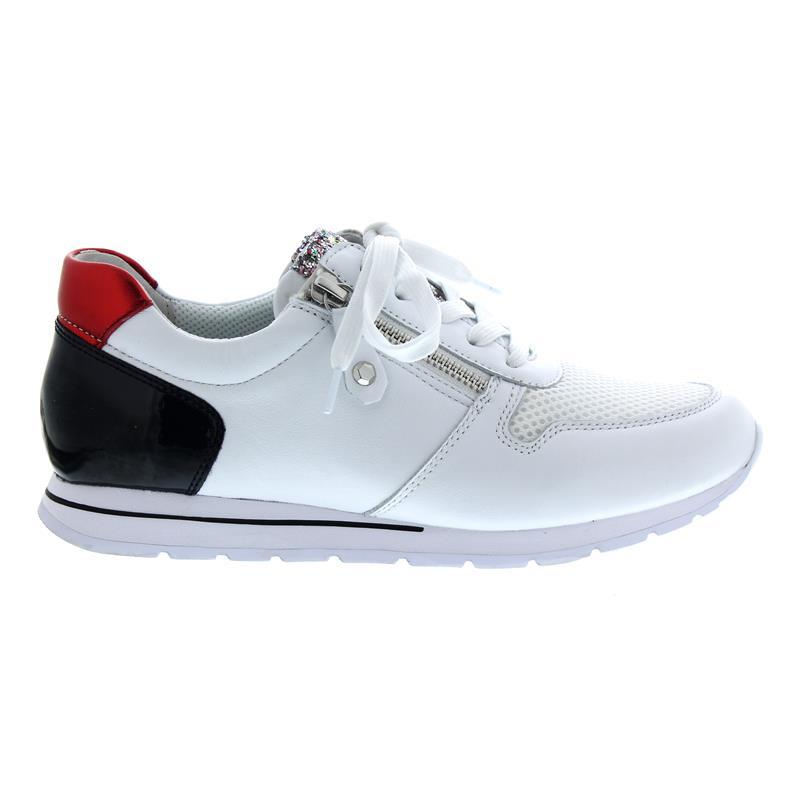 ec81ca3501ebca Gabor Comfort Sneaker in weiss nightb rosso Mesh Nappa Lack Decko ...