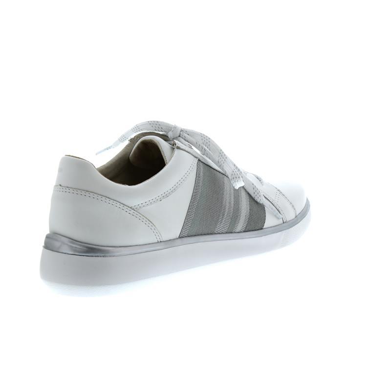 Waldläufer H-Lena, Sneaker, Glove (Glattleder), weiss / silber, Weite H 959005-170-663