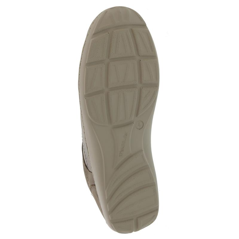 Waldläufer Henni, Pro-Aktiv Fussbett, Denver / Foil, beige/taupe , Weite H 496042-300-970
