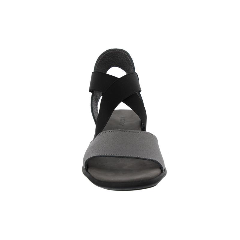 Arche Satia, Sandalette, Fast Metal (Glattleder), iron/etain (grau, Gummizug schwarz), Latexsohle