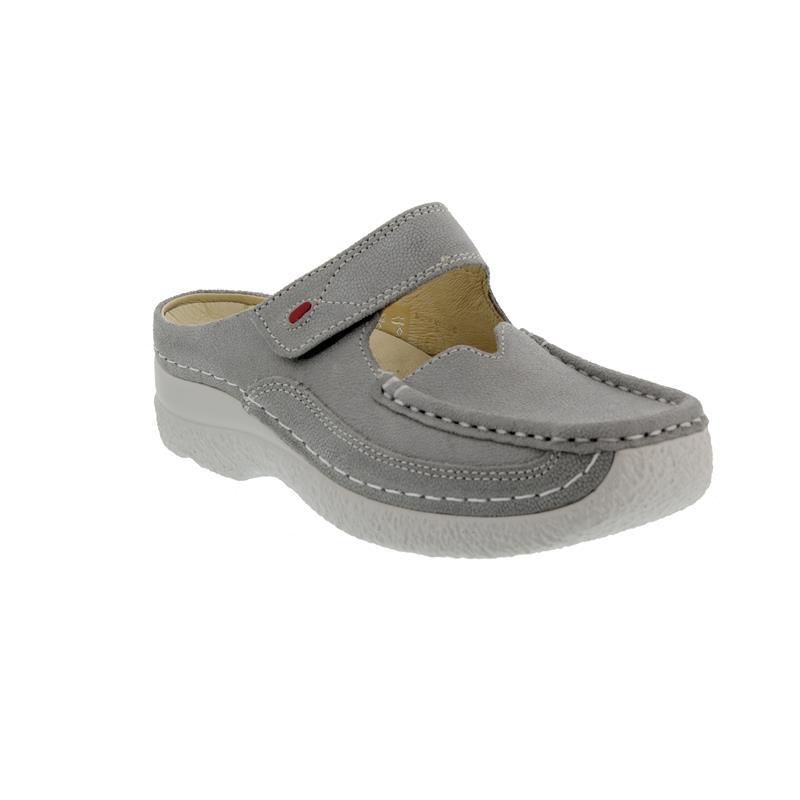 Wolky Roll Slipper, Clog, Caviar nubuck, Light-grey 0622715-206