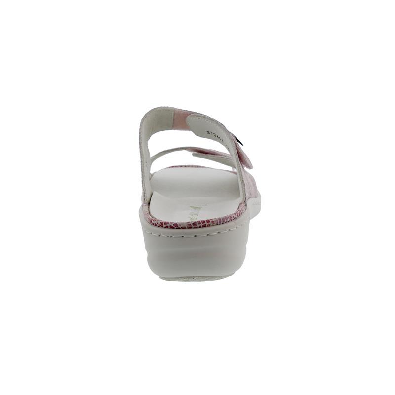 Waldläufer Heria, Pantolette, Orient (bedr. Nubuk), pink, Klettverschluss, Weite H 408514-146-193