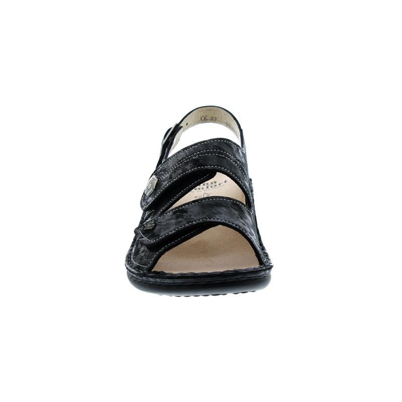 Finn Comfort Milos, Sandale, Chenile (Nubuk), Nero (schwarz) 2560-644144