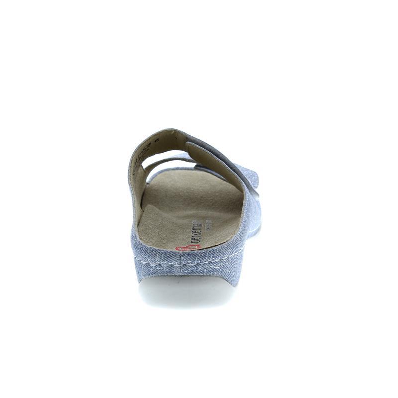 Berkemann Daria, jeans / silber, Nubukleder, Weite E-H, Wechselfußbett, Klettverschluss 1002-311