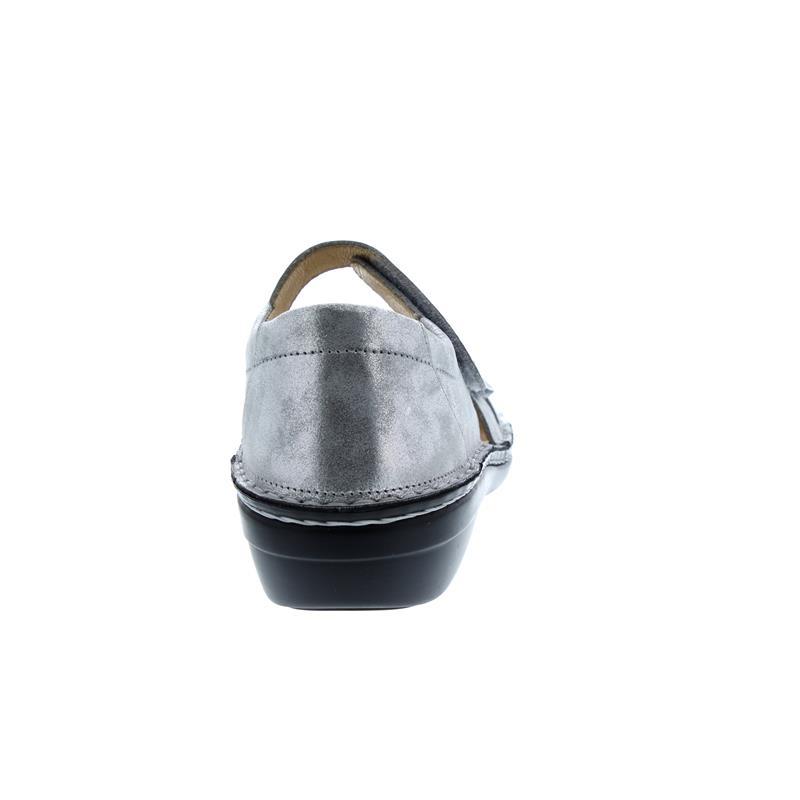 Finn Comfort Sintra-S, Sandale, Slide (Nubukleder), argento (grau), Weichbettung 82585-640297