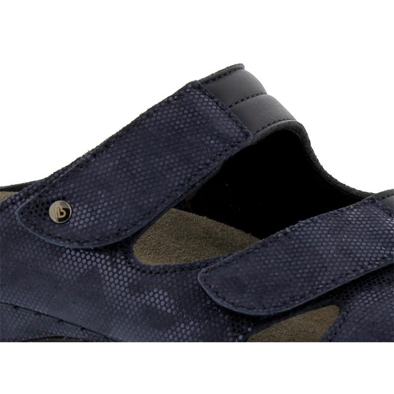 Berkemann Janna, blau/wab/shiny, Nubuk / Stretch, Pantolette Weite E-H 1027-319