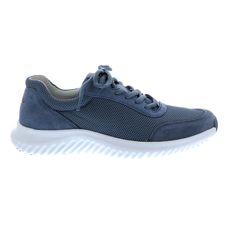 0614805ea0b54f Gabor Rollingsoft Sneaker in nautic Mesh Velour-Leder
