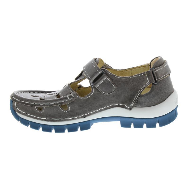 Wolky Move, Oxford leather (Glattleder), Grey-blue, Klettverschluss 0470335-260