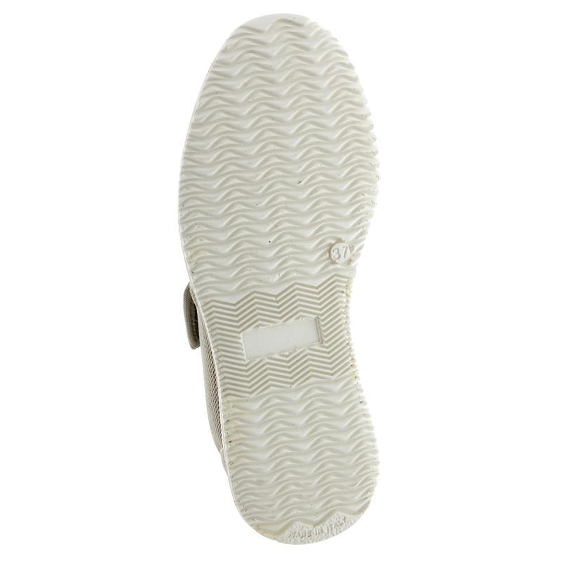 Fischer Damen-Bequem-Schuh, Stretchmaterial, Wechselfußbett, Weite H, beige 18403-888