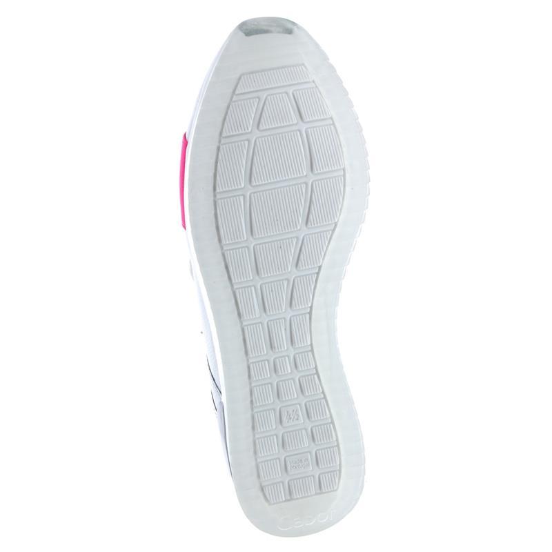 Gabor Sneaker, Las Vegas/Lack, weiss / neonpink, Wechselfussbett, Best-Fitting 24.423.23