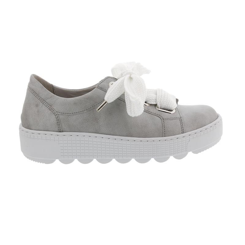 Gabor Sneaker, Colombo (Glattleder), silber, Wechselfußbett, Best Fitting 23.350.29