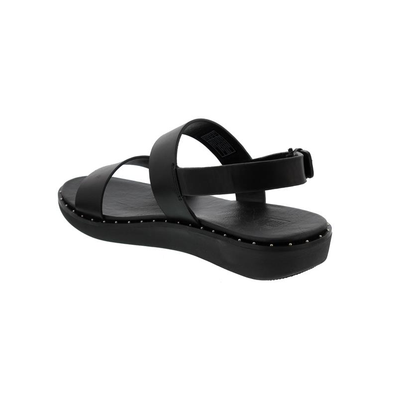 FitFlop Barra Black, Glattleder, Leather Sandale R89-001
