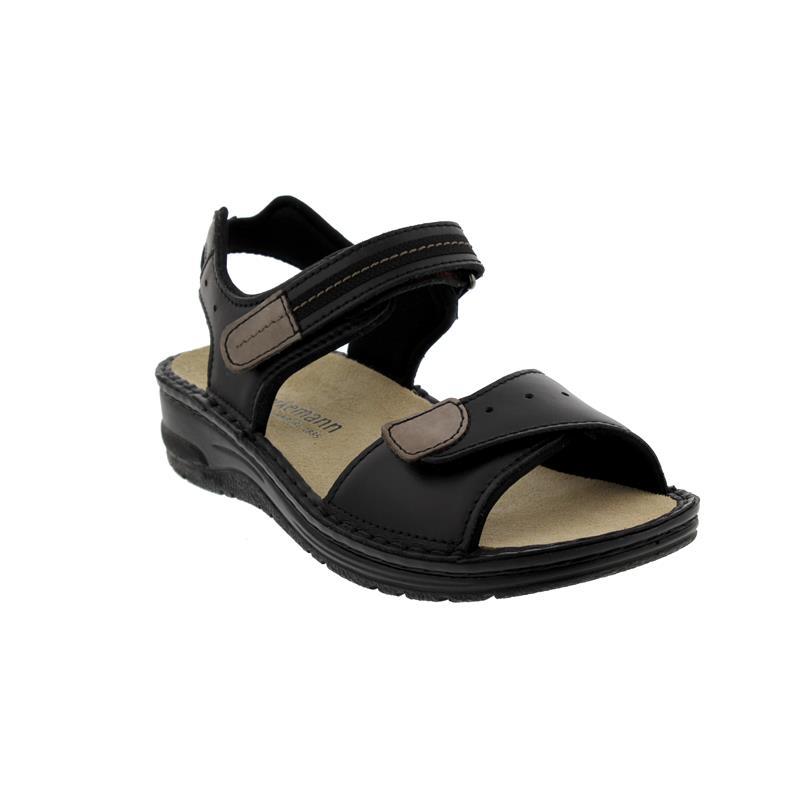 Berkemann Leni Sandale, schwarz, Glattleder, Weite F-J 3102-900