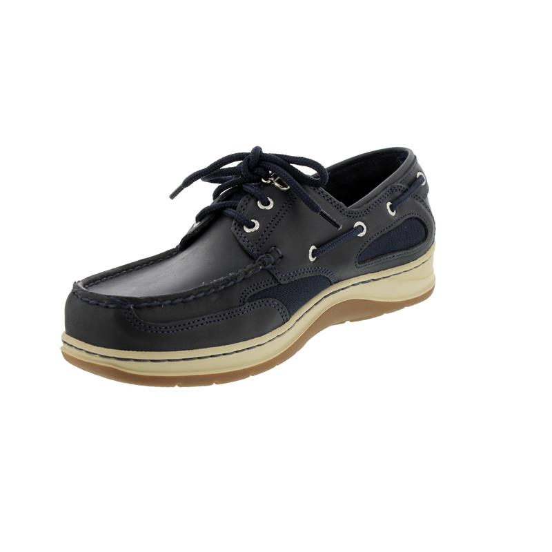 Sebago Clovehitch II, Full-Grain Leather Waxed, Blue Navy, Wechselfußbett, 7000GE0-908 Man