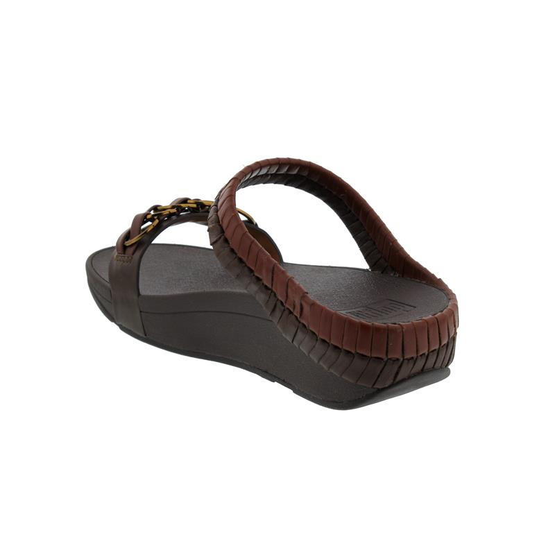 FitFlop Cirque Slide, Cognac / Light Tan, Pantolette T12-691