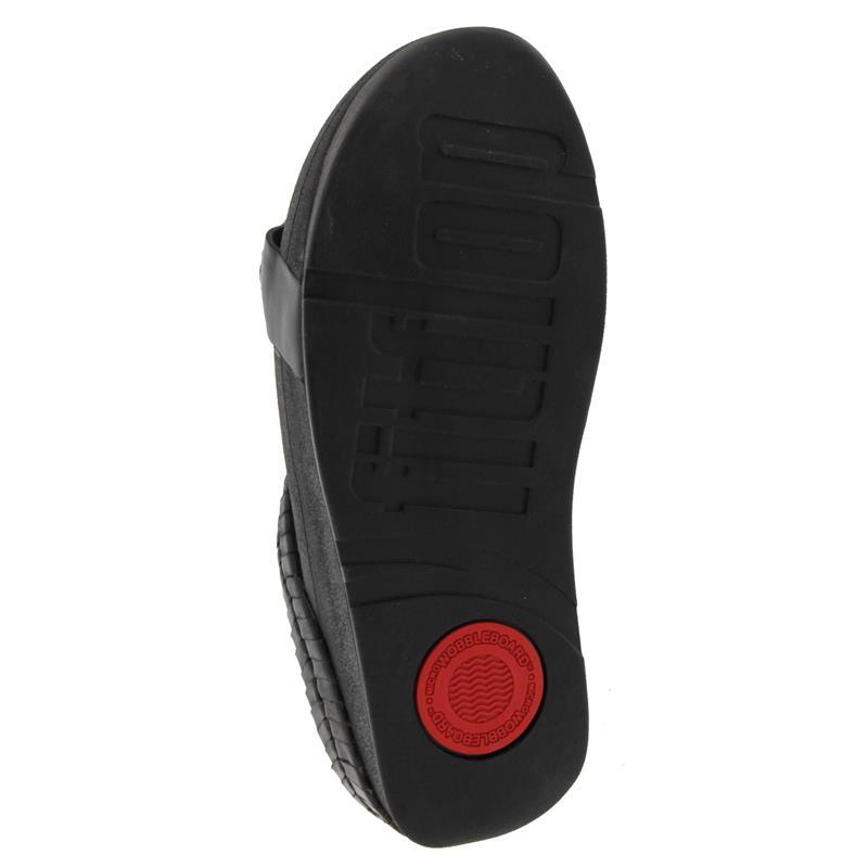 FitFlop Cirque Slide, Black, Pantolette T12-001