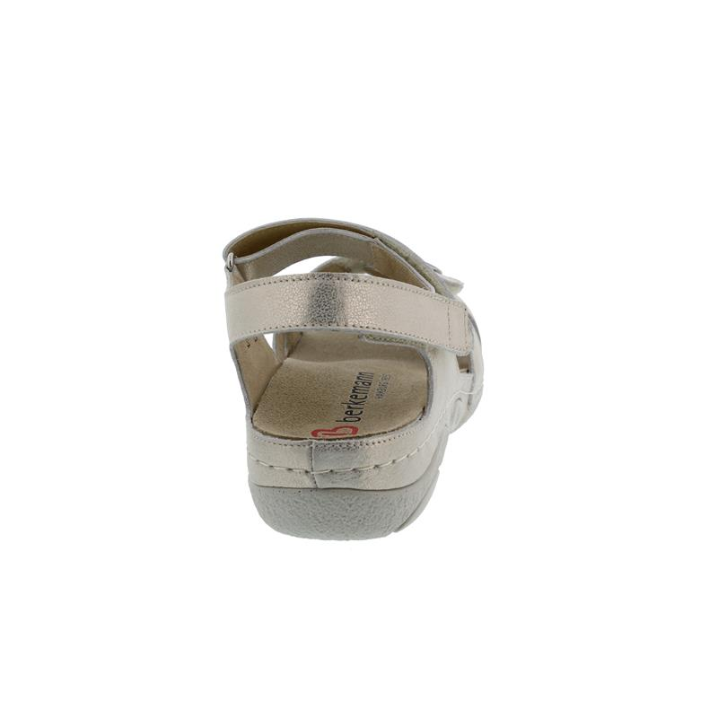 Berkemann Jacklyn, gold / Glitter Leder, Sandale, Weite F-I, Wechselfußbett 1605-713