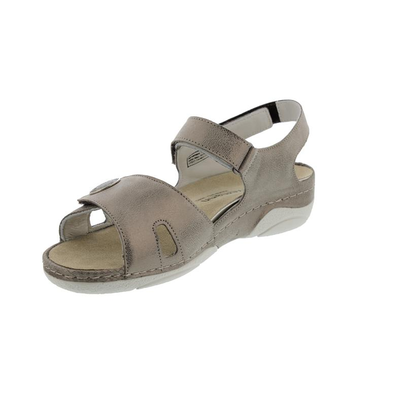 Berkemann Jacklyn, bronze Glitter / Leder Prägung, Sandale, Weite F-I, Wechselfußbett 1605-430