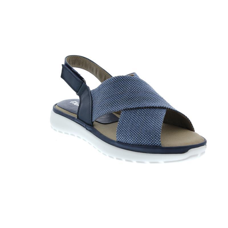 Flex and Go Sandalette, Glattleder / Textil, Navy CL0409