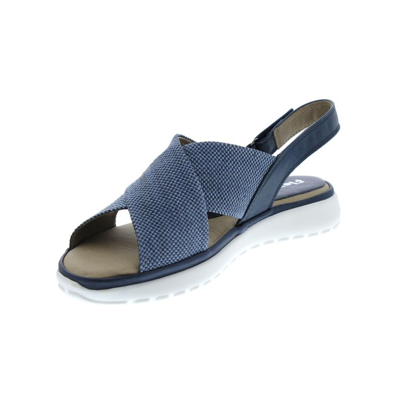 Flex and Go Sandalette, Glattleder / Textil, Navy CL0409