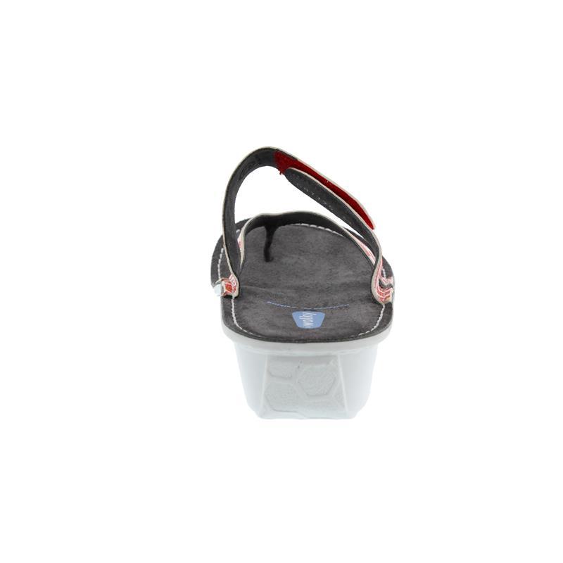 Wolky Martinique, Zehensteg-Pantolette, Spots leather, Red 0087795-500
