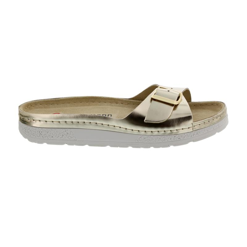 Berkemann Tori, gold / metallic metallic, Leder, Pantolette,  Weite E-H 1913-717