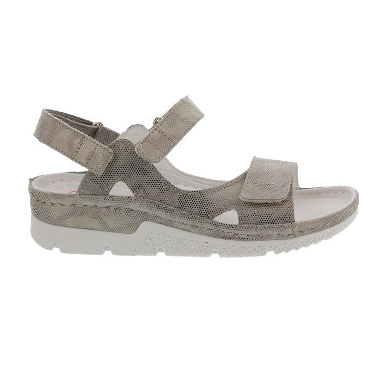 Berkemann Kimba, bronze / Waben / shiny Leder, Sandale, Weite F-I, Wechselfußbett 1158-410