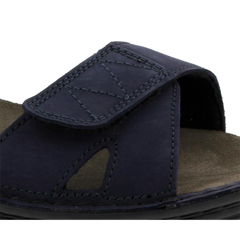 Berkemann Neele, marine Nubuk / schwarz Textil, Sandale, Weite F-J, Wechselfußbett 3116-398