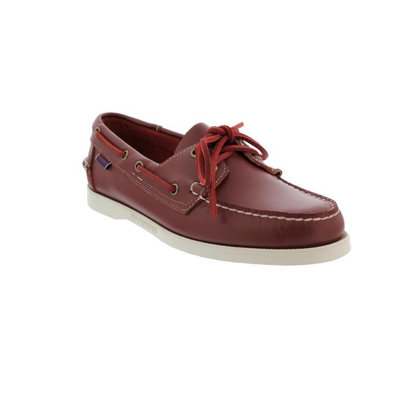 Sebago Docksides, Full-Grain Leather, Dark Red, Men 7000H00-993