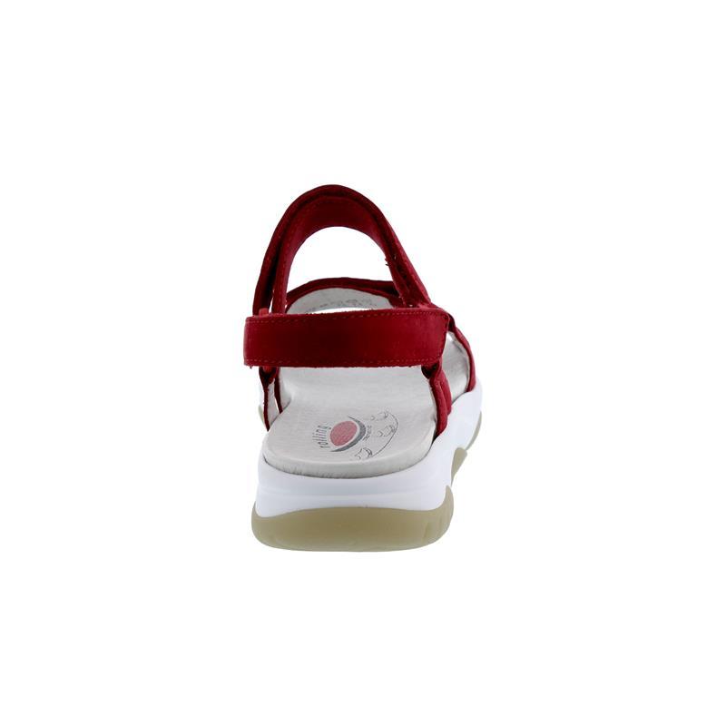 Rollingsoft Sandale, Klettverschluss, Nubuk, rubin, Wechselfußbett 26.928.48