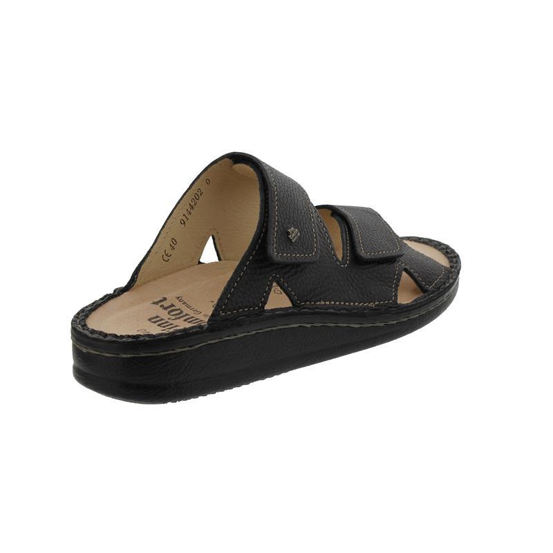 Finn Comfort Danzig-S Pantolette, Bison (Glattleder), schwarz, Weichbettung 81529-055099